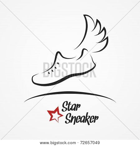 Star sneaker logo