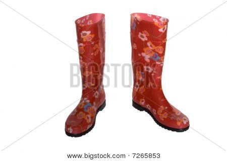Colored Boots Isolated