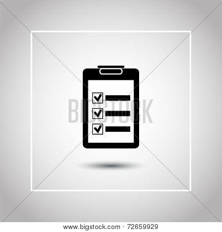 Checklist Or Clipboard Flat Icon