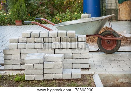 Small Pile Of Paving Stones