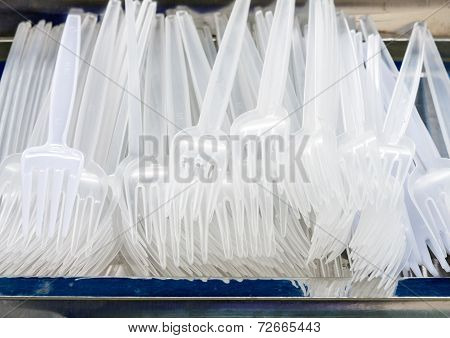 White Plastic Fork