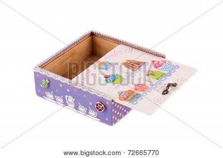 Jewelry case with decoration.