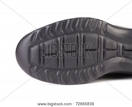 Black shoe sole.