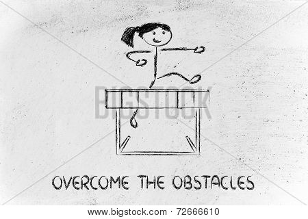Overcome The Obstacles Of Your Life, Hurdle Design