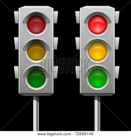 Traffic lights in two modes