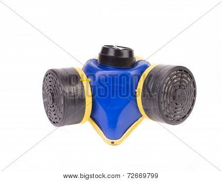 Close up of respirator.