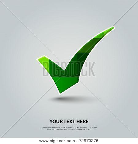 Vector green checkmark.