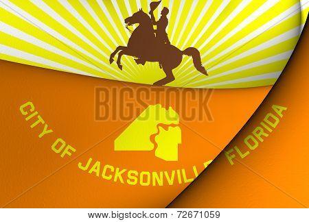 Flag Of Jacksonville, Usa.