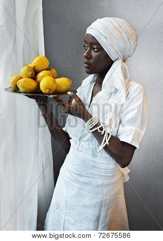 Waitress with Lemons