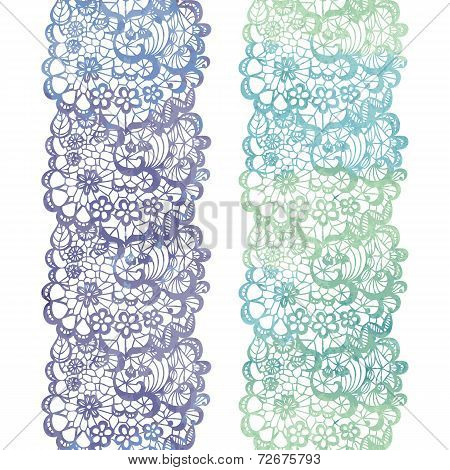 Lacy elegant watercolor border. Lacy vintage trim.