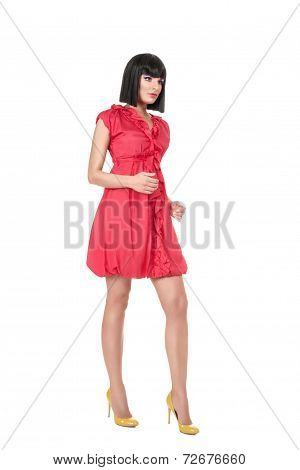 Woman In Red Mini Dress