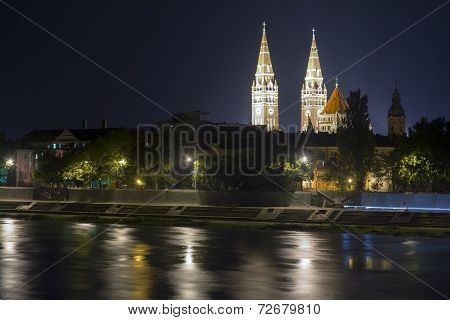 View Of Szeged At Nigth