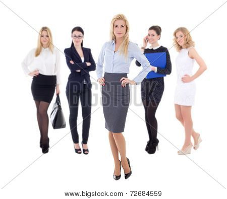 Young Attractive Business Women Isolated On White