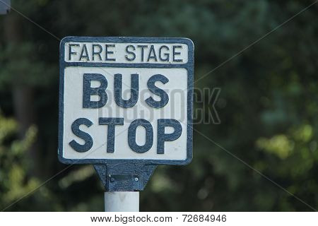 Bus Stop Sign.