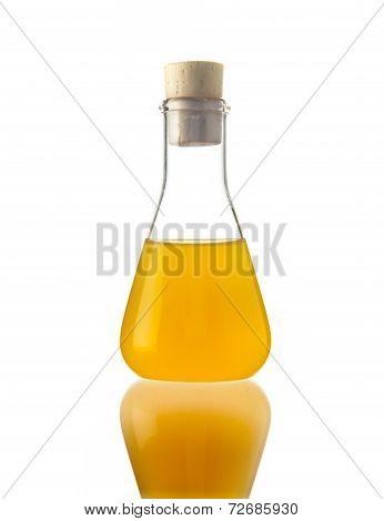 Flask With Yellow Liquid