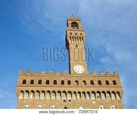 The Old Palace, Palazzo Vecchio Or Palazzo Della Signoria, Florence, Italy.