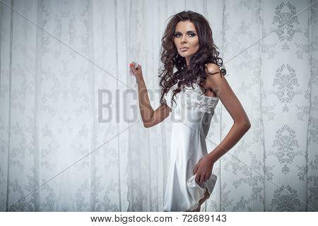 Sensual Brunette Lady Posing