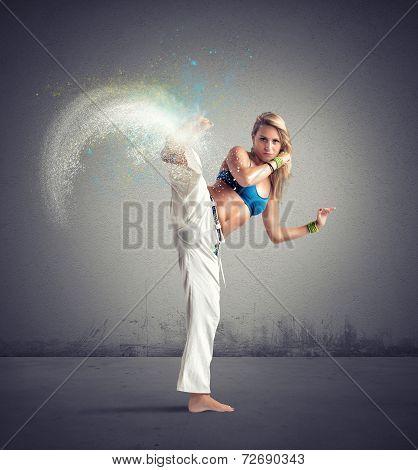 Woman Playing Capoeira