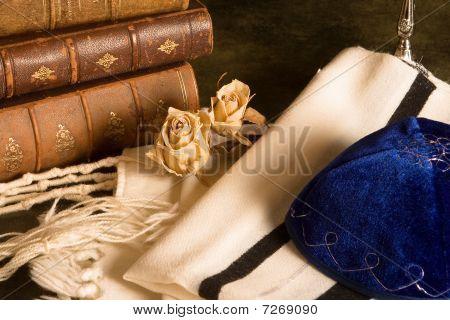 Prayer Shawl And Books