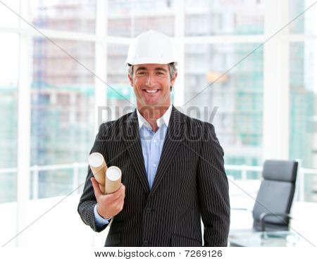 Portrait Of An Elegant Male Architect