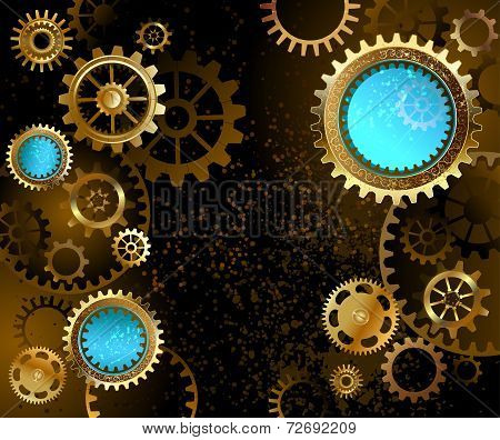 Dark Background With Gears