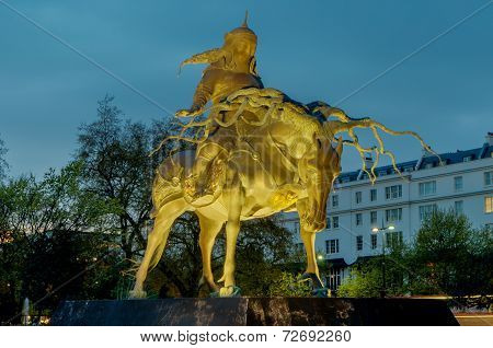Genghis Khan Statue, London