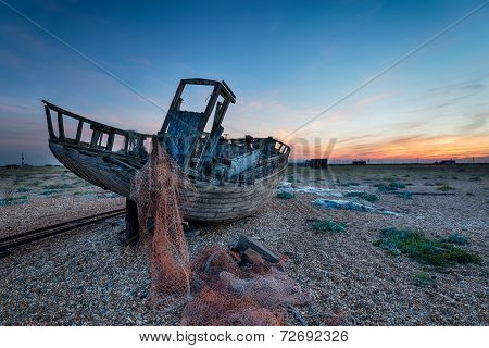 Old Boat At Dungeness