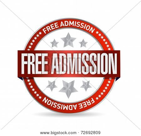 Free Admission Seal Illustration Design