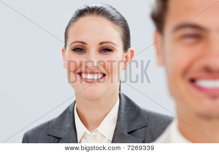 Charming Business People Smiling