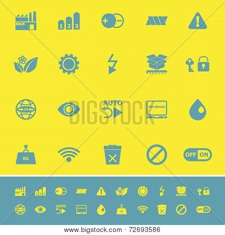 Electronic Sign Color Icons On Yellow Background