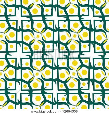 Seamless Pattern With Yellow Circle