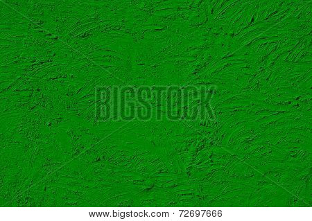 The Texture Of Green Walls Painted Large Erratic Strokes Of Paint