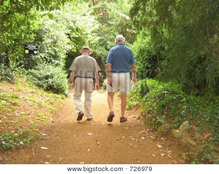 Elderly men enjoying their pension