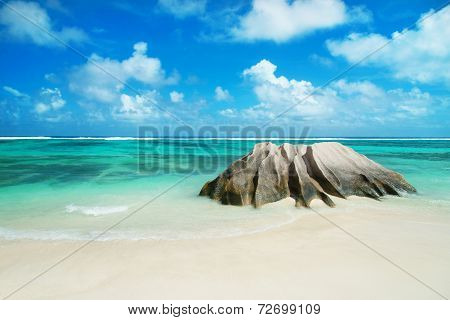 Panorama Of Anse Source D'argent  Beach At Seychelles