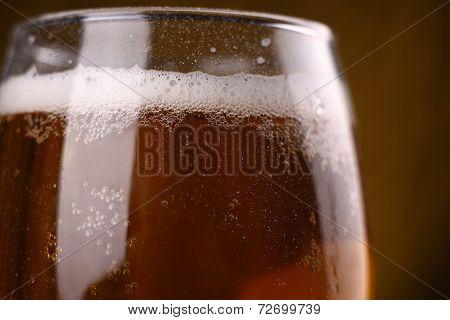 Beer Glass Closeup