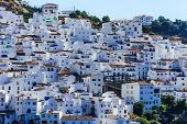 foto of pueblo  - Picturesque view of the town Casares - JPG