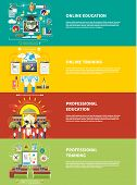 picture of education  - Set icons for education online education professional education in flat design style - JPG