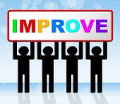 stock photo of evolve  - Improve Improvement Representing Evolve Progress And Develop - JPG