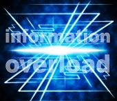 image of byte  - Data Overload Meaning Burdened Info And Bytes - JPG