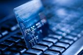 picture of electronic banking  - Online banking and bank transactions with credit card - JPG