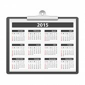 foto of clipboard  - 2015 Calendar on clipboard - JPG