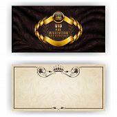 stock photo of brocade  - Elegant template for luxury invitation - JPG