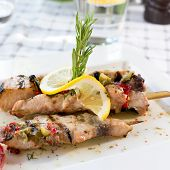 picture of souse  - Swordfish fillet grilled with souse lemon and rosemary - JPG