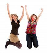 Постер, плакат: Возбужденных женщины прыжки