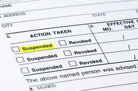 stock photo of suspenders  - A form from the DMV suspending a driver - JPG