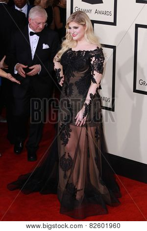 LOS ANGELES - FEB 8:  Meghan Trainor at the 57th Annual GRAMMY Awards Arrivals at a Staples Center on February 8, 2015 in Los Angeles, CA