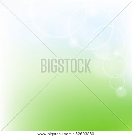Green And Blue Pastel Poster With Gradient Mesh, Vector Illustration