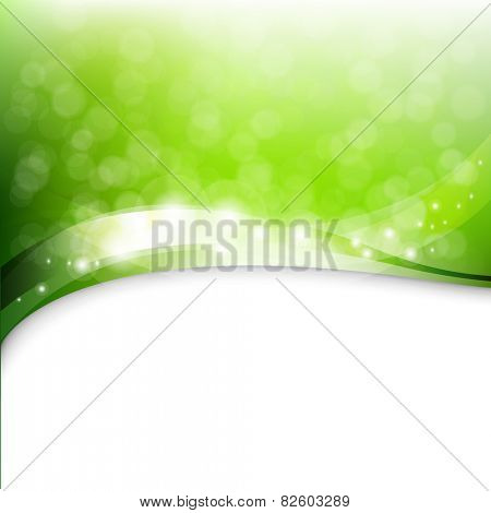 Eco Green Background With Gradient Mesh, Vector Illustration