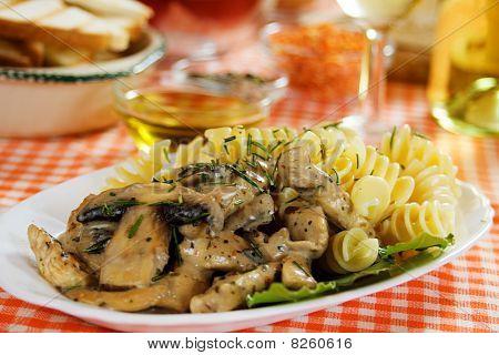 Mushrooms In Cream Sauce