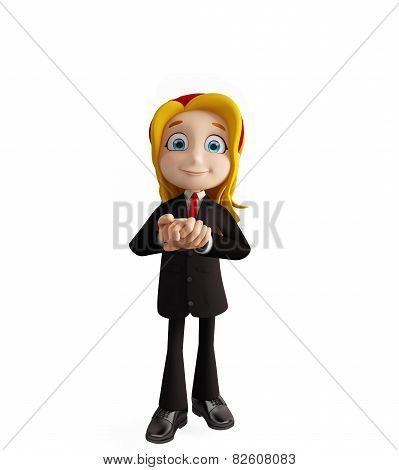 Businesswomen With Promise Pose